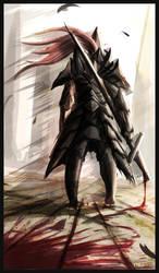 Old Dragonslayer (Dark Souls 2). by Paper-pulp