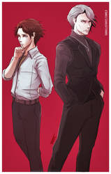 Niijima Brothers. (Persona 5) by Paper-pulp