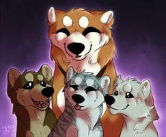 Proud mama dog by DaimonKitty