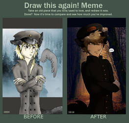 Draw this again! Meme by UkeAnttu