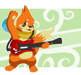 Guitar Hero Buizel by That-Stupid-Dingo