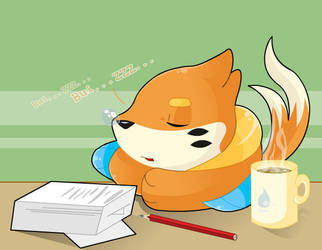 Sleeping Buizel by That-Stupid-Dingo