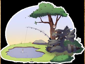 Fishing Zekrom by That-Stupid-Dingo
