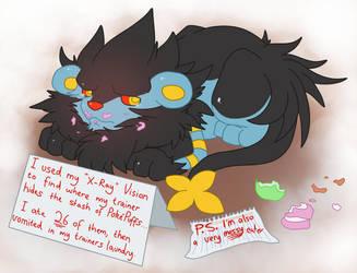 Pokemon Shaming: Luxray by That-Stupid-Dingo