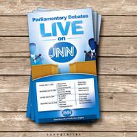JNN Debate Flyer+Press ad by innografiks