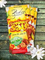 Bridget Sandals Summer Sale Ad by innografiks