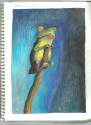 Frog on a stick by Arielsparky