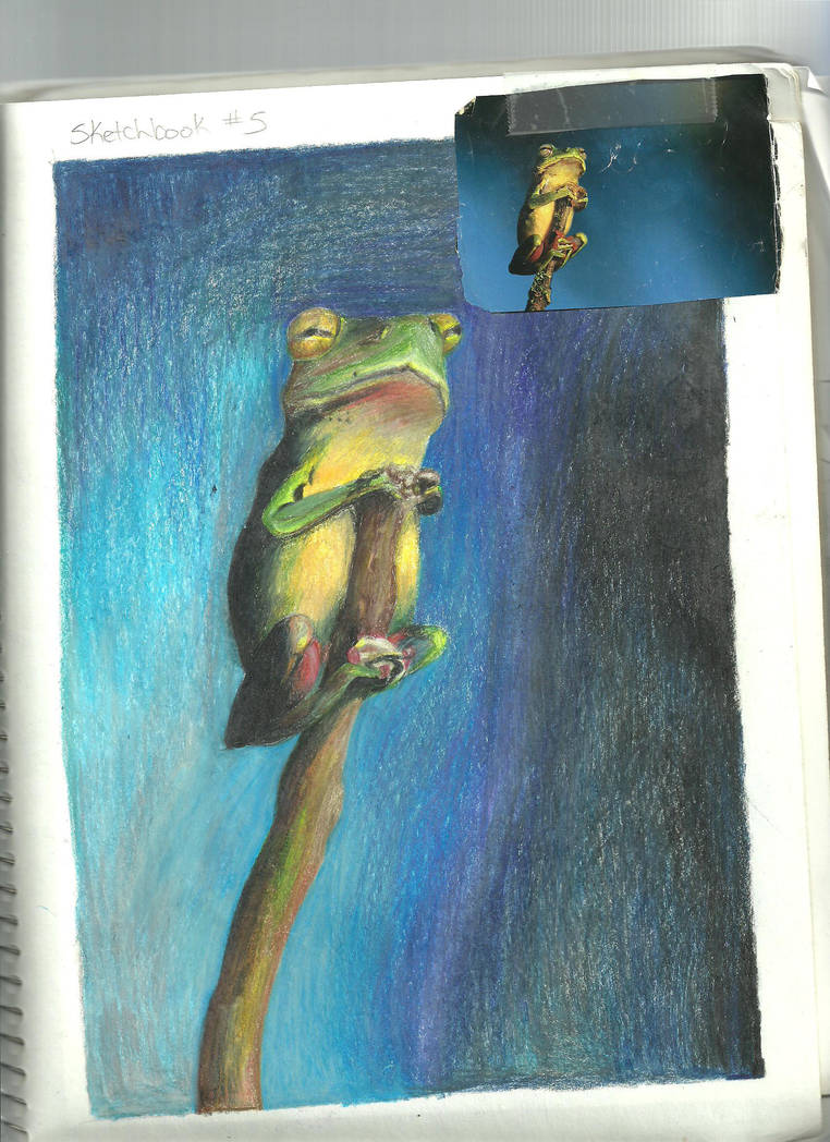 frog on a stick with reference by Arielsparky