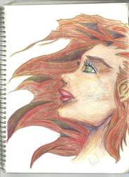 cartoon girl by Arielsparky