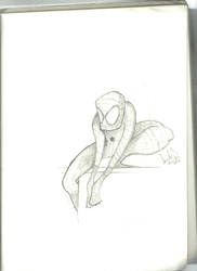 spiderman sketch by Arielsparky