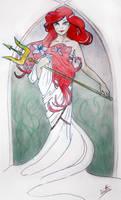 Ariel inspired Mucha by dittaformen