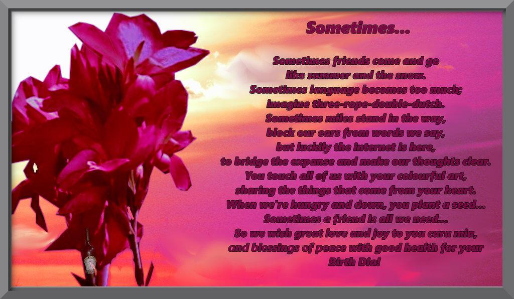 SOMETIMES... by rjdubbya