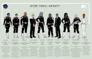 Star Trek: Infinity - Crew Lineup by Damon1984