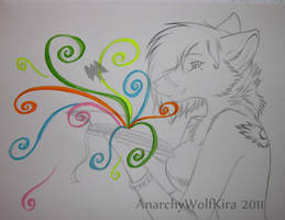 The mind of an artist by AnarchyWolfKira
