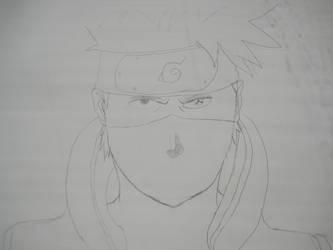 Kakashi sketch by spykitten-14