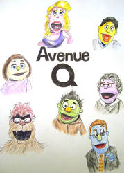 Avenue Q Puppets by DryEyez
