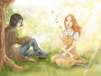 Lily and Severus by DaughterOfAear