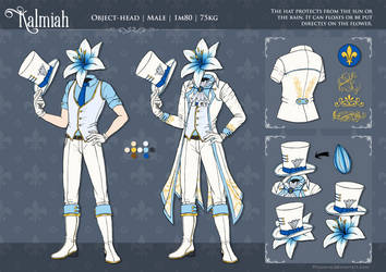 Kalmiah - character refsheet by Miocarre