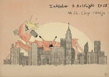 Inktober2018 + Artfright - Chop + Kaiju by Miocarre