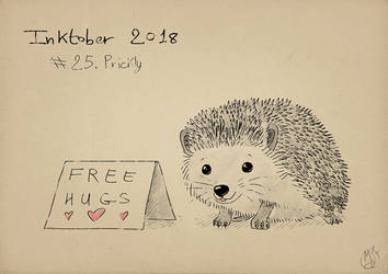 Inktober2018 - Prickly by Miocarre