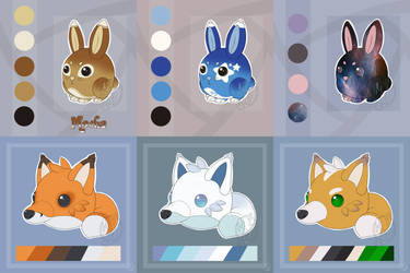 [AF minigames] Plush-fox and Plush-bunny by Miocarre