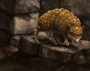Realistic Sandshrew by Leashe