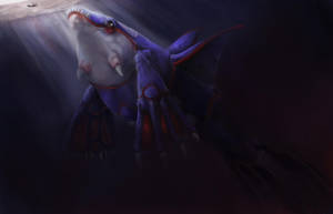 Realistic Kyogre by Leashe