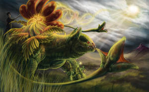 Commission Venusaur vs Grimer by Leashe