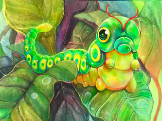Caterpie by Leashe