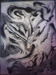Rayearth charcoal drawing by Kazemon15