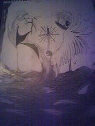 Tsubasa and X: Tokyo collage by Kazemon15