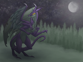 Only by moonlight does he wander... by Panoptos