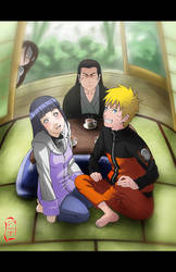 NaruHina - Talking with Father by dannex009