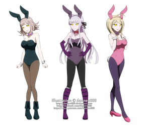 Commission - DanganHypno: Ultra Bunny Girls by dannex009