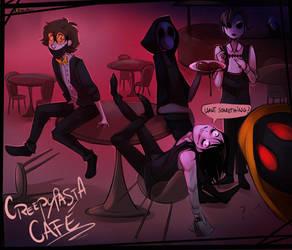   Art Trade with Alloween   Creepypasta Cafe by 0ktavian