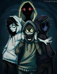 |Creepypasta| Hoodie Squad |+SPEEDPAINT| by 0ktavian