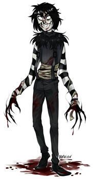  Laughing Jack Fanart  Blood stains  +SPEEDPAINT by 0ktavian
