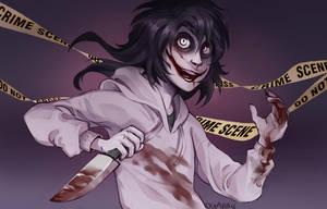 |Jeff The Killer Fanart| Crime Scene |+SPEEDPAINT by 0ktavian