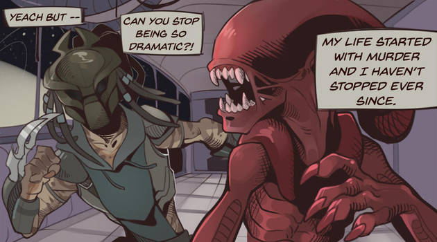 |AVP| Comic Panel - Dramatic by 0ktavian