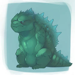 Godzilla is just a very fat angry cat by 0ktavian