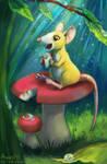 Mushroom rat by Aryvejd