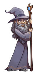 Commission - Wizard by Aryvejd