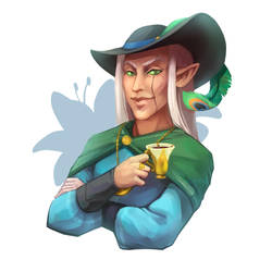 Commission - Tea elf by Aryvejd