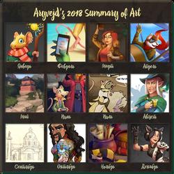 2018 Art Summary by Aryvejd