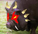 Horned Demon Pig by thedropkickninja