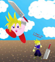 Kirby with Cloud Powers Finish by thedropkickninja