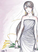 wedding dress by riotycurls