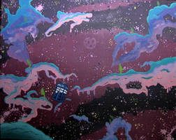 TARDIS in Lumpy Space by neuron-dreamtime