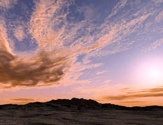 Clouds Over Desert by DarkSap