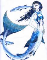 Barracuda mermaid by zepheenia